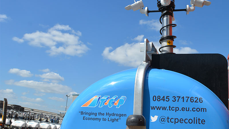 TCP Ecolite Hydrogen fuel cell CCTV tower